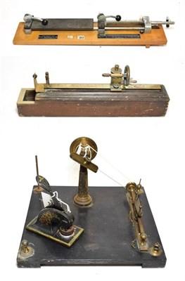 Lot 3065 - F P Walker (Manchester) Twist Tester 20 1/2'', 52cm, Yarn inspection machine, Cloth stretch &...