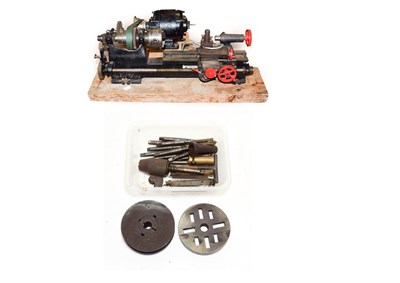 Lot 3066 - George Adam Bench Lathe 24'' 61cm long with a few accessories