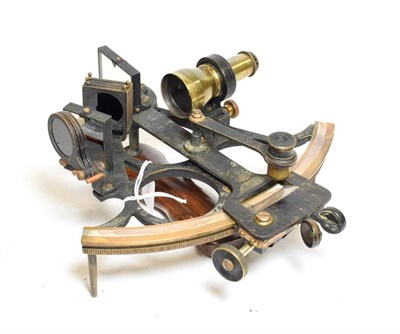 Lot 3067 - H Hughes & Son ''Husun'' Sextant with certificate no.20110 dated 12/1/37, Vernier scale, in...