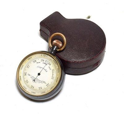 Lot 3078 - Thos Armstrong & Bro (Manchester) Pocket Compensated Barometer 1838 2'', 5cm diameter, in...