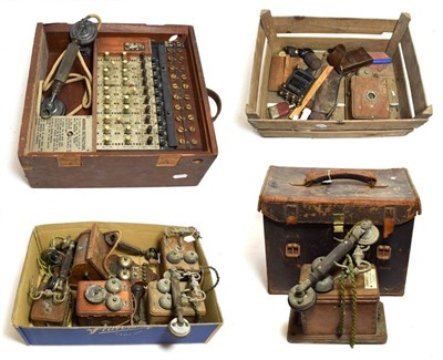 Lot 3080 - Various Telephones And Related Equipment including Ericsson  wall mounted, five other simpler...