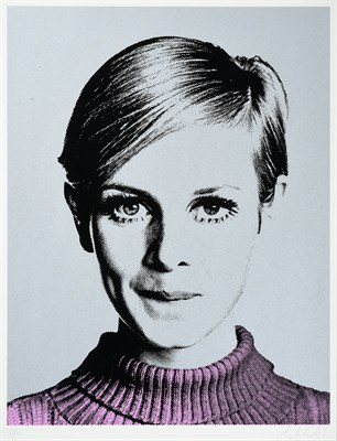 Lot 1003 - Nuala Mulligan (Contemporary) ''Cover Girl'' Twiggy Signed and numbered 55/195, silkscreen on...