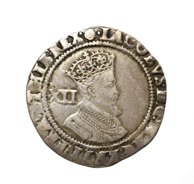 Lot 4001 - James I, 1605 - 1606 Shilling. 5.68g, 29.7mm, 11h. Second coinage coinage, mintmark rose. Obv:...
