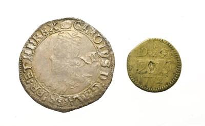 Lot 4005 - Charles I, 1636 - 1638 Shilling. 5.91g, 31.5mm, 12h. Tower Mint under king, mintmark tun. Obv:...