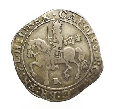 Lot 4006 - Charles I, 1643 Halfcrown. 14.33g, 36.3mm, 8h. Bristol mint, mintmark BR. Obv: Charles I on...