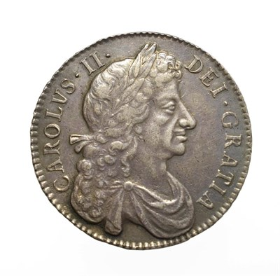 Lot 4007 - Charles II 1679 Halfcrown. Obv: Fourth laureate and draped bust right. Rev: Cruciform shields,...
