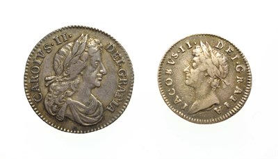 Lot 4010 - Charles II, 1674 Sixpence. Obv: Laureate and draped bust of Charles II right. Rev: Cruciform...