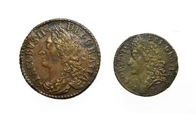 Lot 4011 - Ireland, James II, 1689 Gun Money Halfcrown. Type I. Obv: Laureate and draped bust left. Rev: Crown