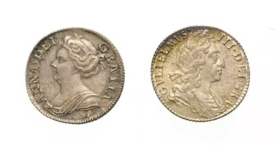 Lot 4014 - William III, 1697 Sixpence. Obv: Laureate and draped bust right. Rev: Cruciform shields. S....
