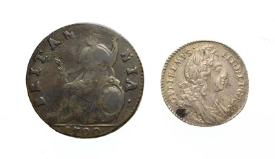 Lot 4015 - William III, 1696 Sixpence. Obv: Laureate and draped bust right. Rev: Cruciform shields. S....