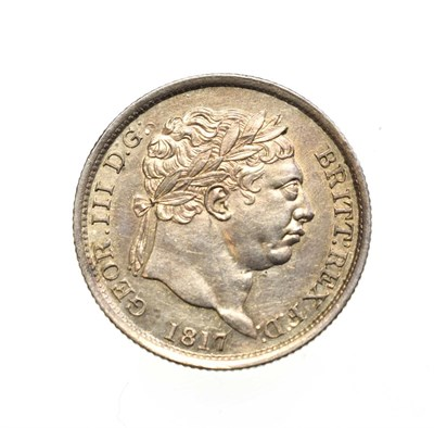Lot 4023 - George III, 1817 Shilling. Obv: Laureate head right. Rev: Crowned shield in garter. S. 3790....