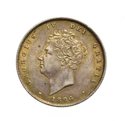 Lot 4026 - George IV, 1826 Shilling. Obv: Bare head of George IV left. Rev: Lion on crown. S. 3812. Good...