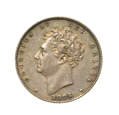 Lot 4027 - George IV, 1826 Sixpence. Obv: Bare head of George IV left. Rev: Lion on crown. S. 3815. Near...