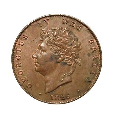 Lot 4028 - George IV, 1826 Halfpenny. Obv: Laureate head of George IV left. Rev: Britannia seated left. S....