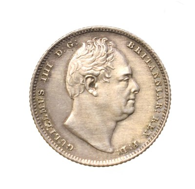 Lot 4030 - William IV, 1835 Sixpence. Obv: Bare head of William IV right. Rev: Crowned mark of value...