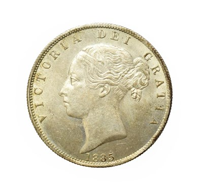 Lot 4032 - Victoria, 1885 Halfcrown. Type A5. Obv: Young head of Victoria left. Rev: Crowned shield of...