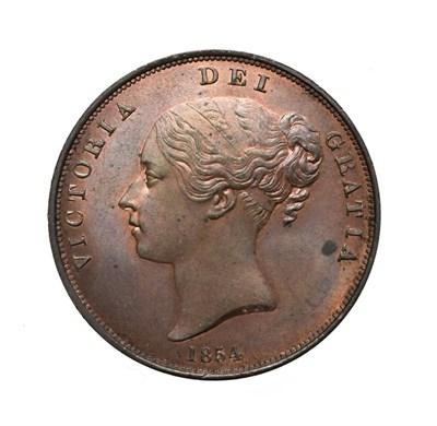 Lot 4044 - Victoria, 1854 Penny. Obv: Young head left, W.W. on truncation, 1854 below. Rev: Britannia...