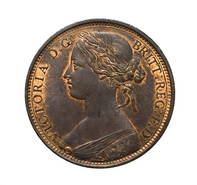 Lot 4047 - Victoria, 1862 Penny. ''Bun head'' type. Obv: 6, Laureate and draped bust left, hair tied in a bun.