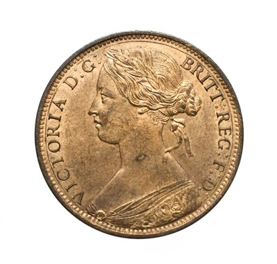 Lot 4048 - Victoria, 1863 Penny. ''Bun head'' type. Obv: 6, Laureate and draped bust left, hair tied in a bun.