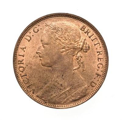 Lot 4062 - Victoria, 1881 H Penny. Heaton mint, Birmingham, ''bun head'' type. Obv:11, laureate and draped...