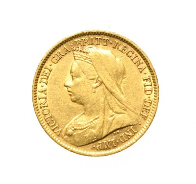 Lot 4068 - Victoria, 1901 Sovereign. Obv: Old, veiled head of Victoria left, T.B. below truncation for...