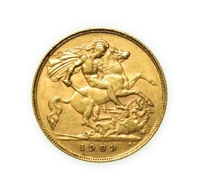 Lot 4082 - Edward VII, 1909 Half-Sovereign. Bare head of Edward VII right, DES below truncation for...