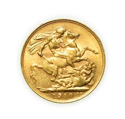 Lot 4087 - Edward VII, 1910 Sovereign. Bare head of Edward VII right, DES below truncation for engraver George