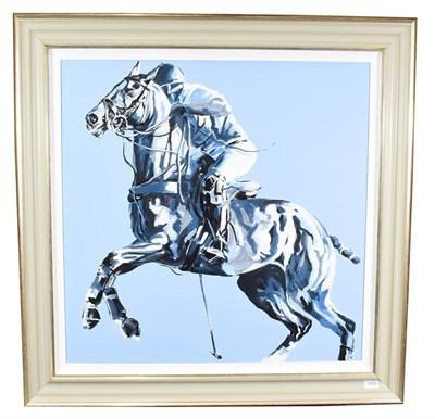 Lot 1004 - Joy Harris (Contemporary) ''Blue Sky II''  Signed, oil on canvas, 79cm by 79cm  Artist's Resale...