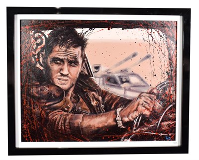 Lot 1005 - Pete Humphreys (Contemporary) ''Mad Max'' Signed, oil on canvas, 70cm by 90cm  Artist's Resale...