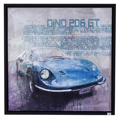 Lot 1006 - Markus Haub (b.1972) German ''Dino 206 GT'' Signed, oil on canvas, 100cm by 100cm   Artist's Resale