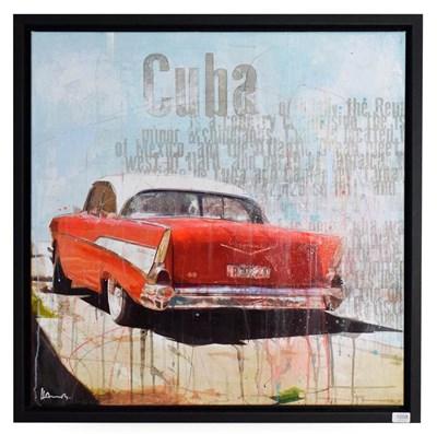 Lot 1008 - Markus Haub (b.1972) German ''Cuba'' Signed, oil on canvas, 80cm by 80cm  Artist's Resale...