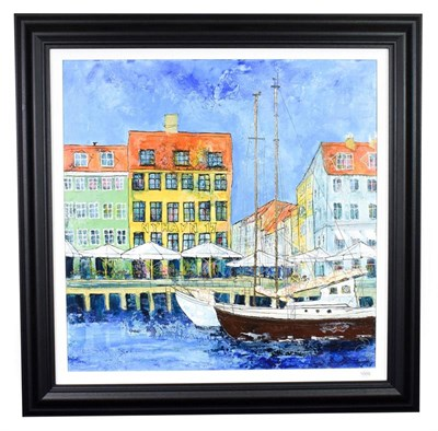 Lot 1009 - Katharine Dove (Contemporary) ''Nyhavn 17'' Signed, inscribed verso, acrylic on canvas, 75cm by...