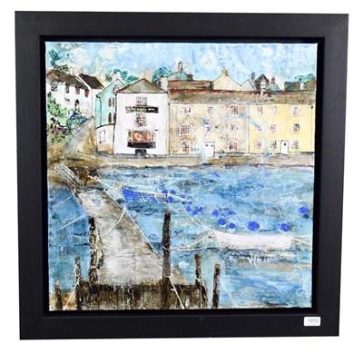 Lot 1010 - Katharine Dove (Contemporary) ''Dittisham, Devon'' Signed, inscribed verso, acrylic on canvas, 60cm