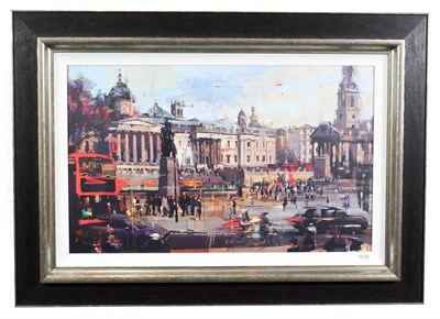 Lot 1019 - Christian Hook (Contemporary) ''Trafalgar Square'' Signed and numbered 66/295, giclee print on...