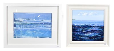 Lot 1027 - Mary Shaw (Contemporary) ''Sailing on the Sea I'' Signed, acrylic on board, together with a further