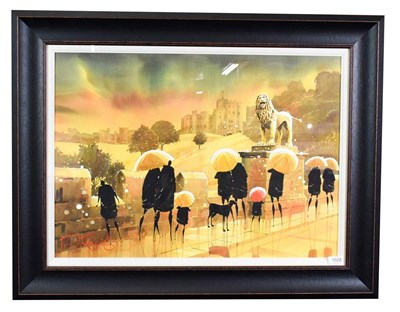Lot 1028 - Peter J Rodgers (Contemporary) ''Alnwick Castle II'' Signed, watercolour, 50cm by 70cm...