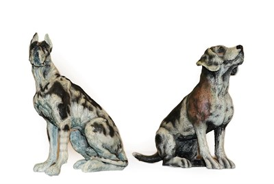 Lot 1030 - April Shepherd (Contemporary) ''On Guard'' ''Paying Attention'' Signed and numbered 33/295 and...