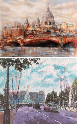 Lot 1039 - Timmy Mallett (b.1955),  ''Celebrating on the Mall'',  Signed and numbered 51/195, giclee print...