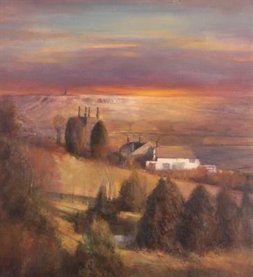 Lot 1042 - Bohuslav Barlow (b.1947) Czech  ''Cross Stone-Dusk''  Signed, oil on canvas, 65cm by 59.5cm...