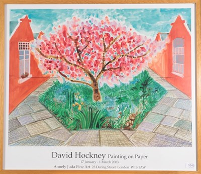 Lot 1043 - After David Hockney OM, CH, RA (b.1937) ''Painting on Paper'', 17th January - 1st March 2003 Annely