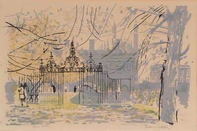 Lot 1046 - Edwin La Dell (1914-1970) ''Clara Gate'', Cambridge Signed and inscribed, lithograph, 34cm by 50cm