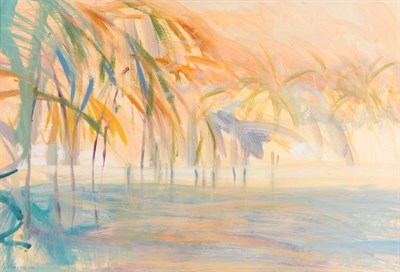 Lot 1048 - Irene Lesley Main (b.1959) Scottish ''Dawn at Captiva, Gulf of Mexico'' Signed and dated 1987,...
