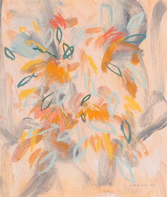Lot 1050 - Irene Lesley Main (b.1959) Scottish ''Summer Flowers'' Signed and dated 1987, mixed media, 35cm...