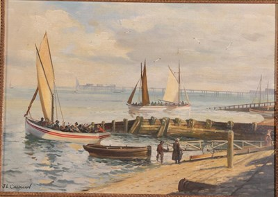 Lot 1058 - John Lewis Chapman (b.1946) ''Pleasure Boats Blackpool Central Beach 1900'' Signed, inscribed...