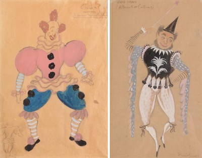 Lot 1063 - British School (20th century) ''Odd Man'' Indistinctly signed, inscribed mixed media together...
