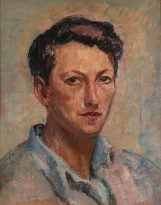 Lot 1071 - Philip Naviasky (1894-1983) Self Portrait  Oil on board, with a further study of Robin Hood's...