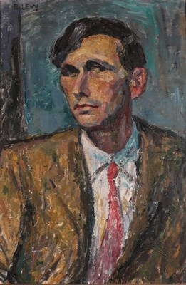 Lot 1074 - Emmanuel Levy (1900-1986) Head and shoulders portrait of a gentleman wearing a red tie Signed,...