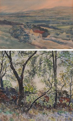 Lot 1080 - Frederick (Fred) Cecil Jones RBA (1891-1966) Landscape with barn Signed and dated 1910,...