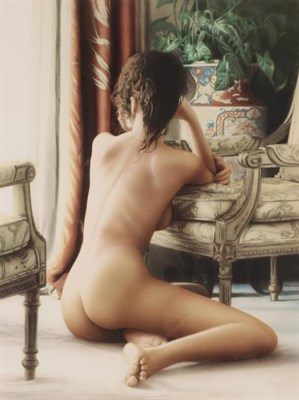 Lot 1084 - Douglas Hoffman (b.1945) American Nude Signed and numbered 15/295, a colour reproduction, 55cm...