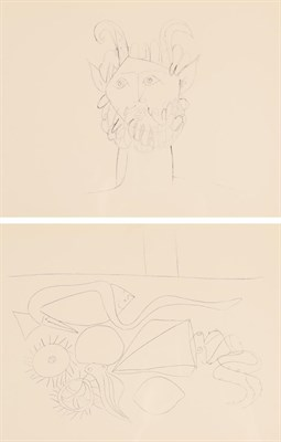Lot 1087 - After Pablo Picasso (1881-1973) Faun Black and white print, together with another depicting a still